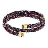 Swarovski-Crystaldust-Double-Bangle-Multi-colored-Gold-plating-5379278-W180