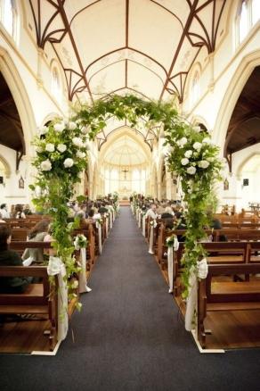 12 Mejores Imgenes De Iglesias Decoradas Para Bodas En Pinterest Arreglos Florales Para Boda En Iglesia